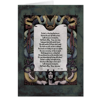 "Yeats ""Hosting of the Sidhe"" Victorian Art Card"