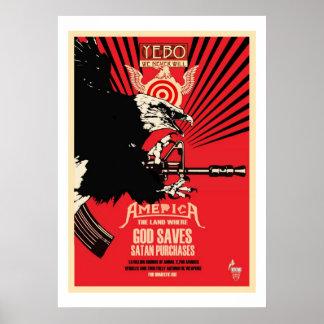 YEBO God Saves & Satan Purchases Posters