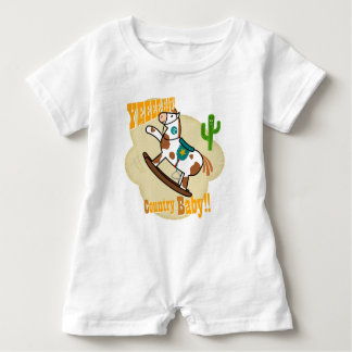 """Yee Haw Country Baby"". Baby Romper"