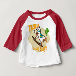 """Yee Haw Country Baby"" Sleeve Raglan T-Shirt"