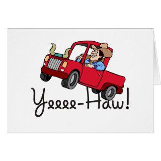 Yee Haw Truck Card