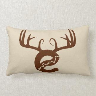 Yeg Deer Cotton Throw Pillow