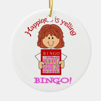 Yelling Bingo Ceramic Ornament