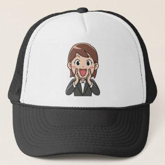 Yelling Woman Trucker Hat