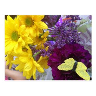 Yello Flowers Postcard