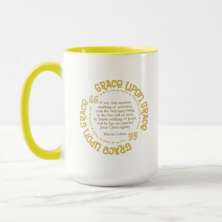 Yellow 15 oz. Combo Mug  (Luther Quote on Grace)