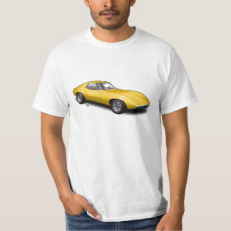 Yellow 1965 Banshee Prototype on White T-Shirt