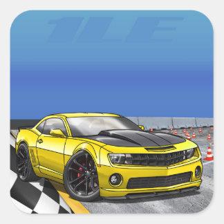 Yellow_1LE Square Sticker