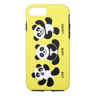 Yellow 3 Pandas iPhone 7 Plus, Tough Case
