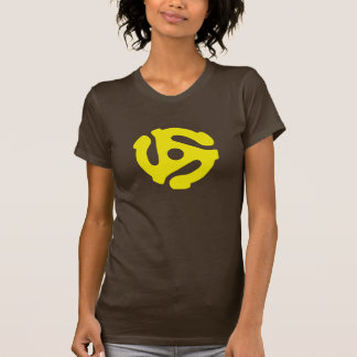 Yellow 45 rpm RECORD Adapter T-Shirt