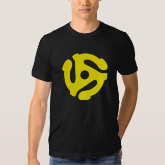 Yellow 45 rpm RECORD Adapter Tshirts