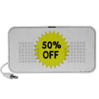 Yellow 50 Percent Off Travelling Speakers