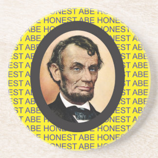 yellow Abe background Coaster