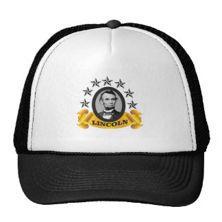 yellow abe banner trucker hat