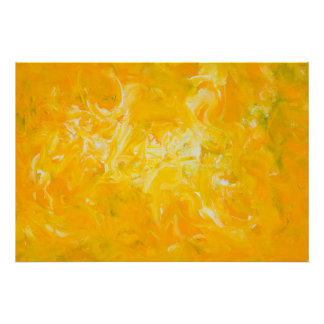 Yellow Abstract Art Poster