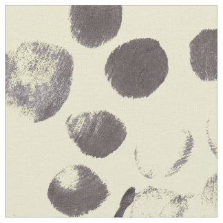 Yellow Abstract Black Dots 170256 Fabric