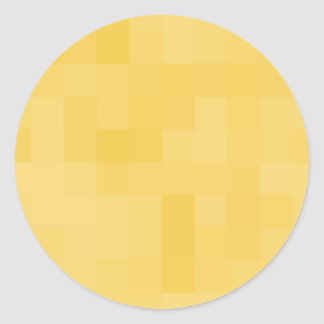 Yellow Abstract Design. Classic Round Sticker