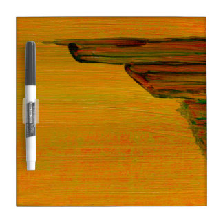 Yellow Abstract Design Dry-Erase Whiteboards