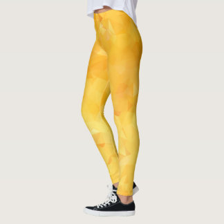 Yellow Abstract Geometric Leggings