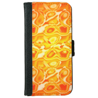 Yellow Abstract Honey X Pattern iPhone 6 Wallet Case