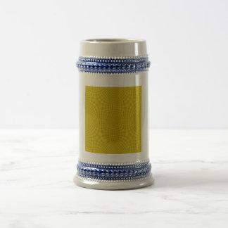 Yellow abstract pattern coffee mug