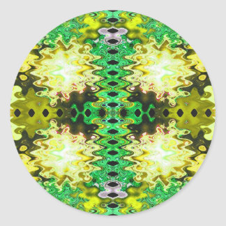 Yellow abstract round sticker