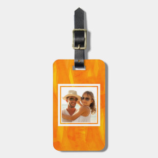 Yellow Abstract Watercolor | Add your Name Luggage Tag