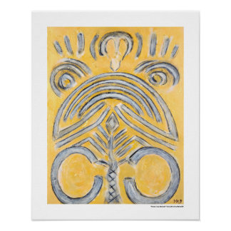 Yellow abstract - yellow gold painting Gifts Print