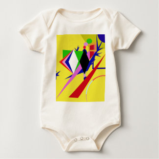 Yellow abstraction baby bodysuit