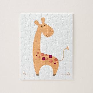 YELLOW AFRICA HOT GIRAFFE ART PUZZLES