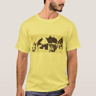 Yellow African Village Hiking Tee For Men