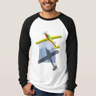 Yellow airplane mens raglan shirt