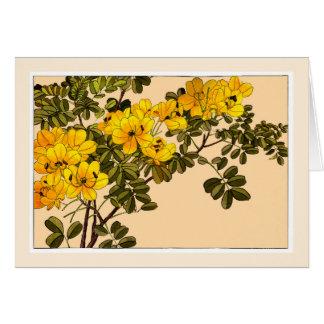 Yellow Allamanda Botanical Art Card