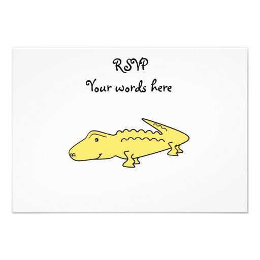 Yellow alligator invitation