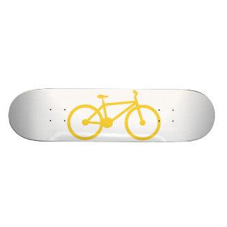 Yellow Amber Bicycle Skateboard