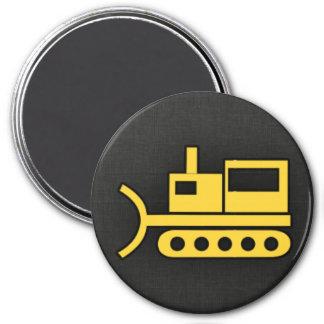 Yellow Amber Bulldozer Magnets