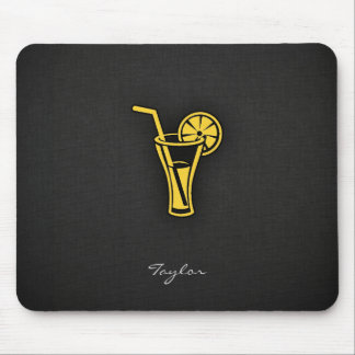 Yellow Amber Cocktail Mousepad