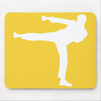 Yellow Amber Martial Arts Mouse Pad