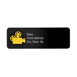 Yellow Amber Movie Camera