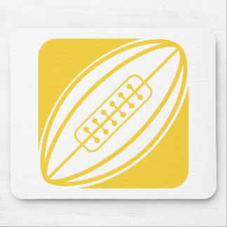 Yellow Amber Rugby Mouse Pad