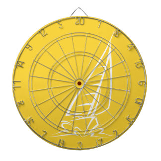 Yellow Amber Sailing Dart Board