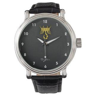 Yellow Amber Scorpio Wrist Watches