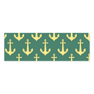 Yellow Anchor on Green Billiard Background Pattern Business Card Templates