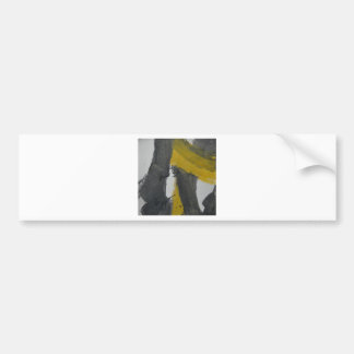Yellow And Black Abstract 2 Bumper Stickers