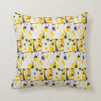 Yellow and black Artistic throwpillow
