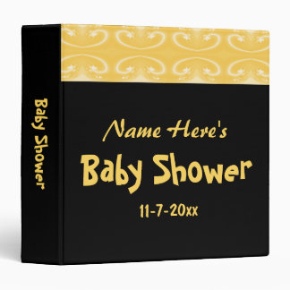 Yellow and Black Baby Shower Binder