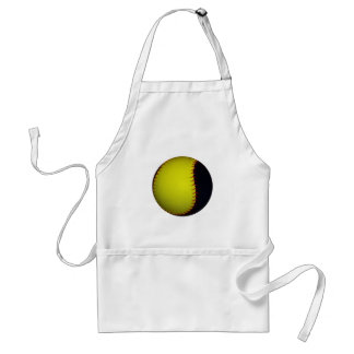 Yellow and Black Baseball / Softball Standard Apron