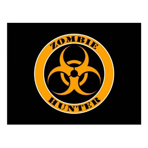 Yellow and Black Bio Hazard Zombie Hunter Post Cards