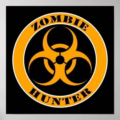 Yellow and Black Bio Hazard Zombie Hunter Print