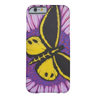 Yellow and Black Butterfly Barely There iPhone 6 Case